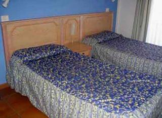 Camas dobles en las habitaciones