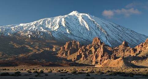 Vista de El Teide desde el llano de Ucanca