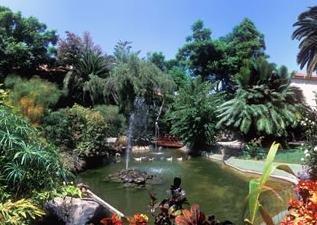 Vista jardines tropicales